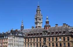 Bâtiment de bourse des valeurs d'anciennes actions à Lille, France Image stock
