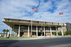 Bâtiment de capitale de l'État d'Hawaï. Photo stock