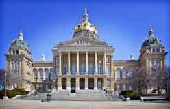 Bâtiment de capitol d'état de l'Iowa photographie stock