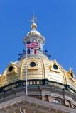 Bâtiment de capitol d'état de l'Iowa, Des Moines photographie stock