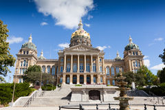 Bâtiment de capitol d'état de l'Iowa, Des Moines Photo libre de droits