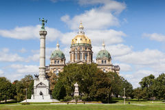 Bâtiment de capitol d'état de l'Iowa, Des Moines Images libres de droits