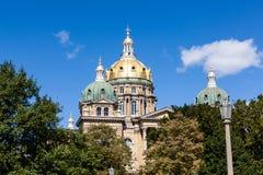 Bâtiment de capitol d'état de l'Iowa, Des Moines photographie stock libre de droits