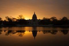Bâtiment de capitol dans le Washington DC Photos libres de droits