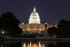 Bâtiment de capitol des Etats-Unis dans le Washington DC, Etats-Unis Images libres de droits