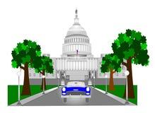 Bâtiment de Capitol Hill dans le C.C illustration stock