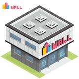 Bâtiment de centre commercial illustration de vecteur