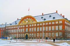 Bâtiment de chancellerie à Copenhague en hiver Images libres de droits