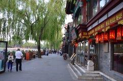 Bâtiment de chinois traditionnel avec des lanternes Images stock