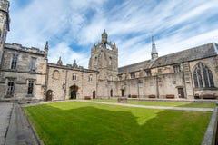 Bâtiment de College d'université d'Aberdeen du Roi C'est le plus vieux images libres de droits