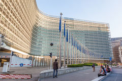Bâtiment de Commission européenne à Bruxelles Image libre de droits