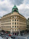 Bâtiment de compagnie d'assurance de Riunione Adriatica di Sicurta à Vienne Photos stock