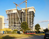 Bâtiment de construction, gratte-ciel Images stock