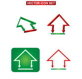 Bâtiment de couleur et ensemble d'icône de maison Photographie stock libre de droits