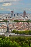 Bâtiment de Dieu de pièce de La et ville, Lyon, France Photographie stock libre de droits