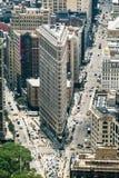 Bâtiment de fer à repasser conçu par Daniel Burnham de Chicago Image libre de droits