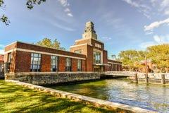Bâtiment de ferry - Ellis Island Photo libre de droits
