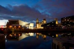 Bâtiment de foie et musée royaux de Liverpool Image libre de droits