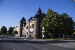 Bâtiment de Gästrike Räddningstjänst, de délivrance de gavle et de corps de sapeurs-pompiers Photos libres de droits
