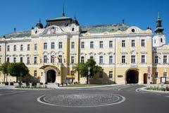 Bâtiment de galerie dans la ville de Nitra Images stock