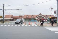 Bâtiment de gare ferroviaire dans la ville de Kawaguchiko photographie stock libre de droits