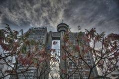 Bâtiment de Genex sur nouveau Belgrade image libre de droits