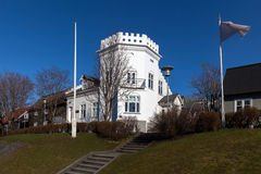Bâtiment de Gimli à Reykjavik, Islande Photo stock
