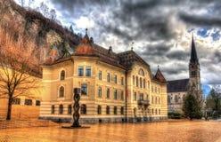 Bâtiment de gouvernement à Vaduz Image libre de droits