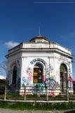 Bâtiment de graffiti à Rome Photos libres de droits