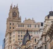 Bâtiment de groupe de Telefonica à Madrid Images libres de droits