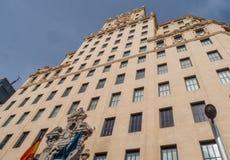 Bâtiment de groupe de Telefonica à Madrid Photo libre de droits