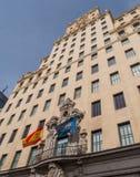 Bâtiment de groupe de Telefonica à Madrid Image stock