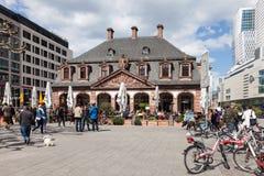 Bâtiment de Hauptwache dans la canalisation de Francfort Images libres de droits