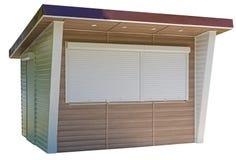 Bâtiment de kiosque de journal sur le blanc photographie stock
