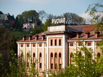 Bâtiment de Konrad Beer Brewery dans Vratislavice NAD Nisou, Liberec, République Tchèque images stock