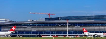 Bâtiment de l'aéroport de Zurich Images libres de droits