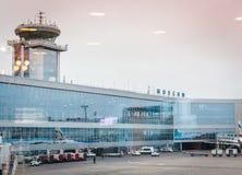 Bâtiment de l'aéroport Domodedovo Images stock