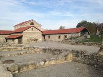 Bâtiment de l'Autriche Carnuntum et ruines de ville romaine antique image stock