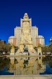 Bâtiment de l'Espagne et statue de don Quichotte Photos libres de droits