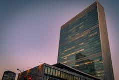 Bâtiment de l'ONU à New York Photo libre de droits