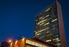 Bâtiment de l'ONU à New York Photos libres de droits