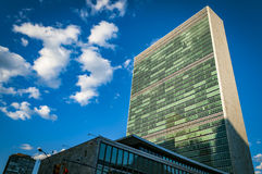 Bâtiment de l'ONU à New York Images libres de droits