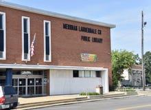Bâtiment de la bibliothèque public du comté de méridien-Lauderdale, méridien, Mississippi image libre de droits
