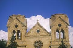 Bâtiment de mission dans Santa Fe New Mexico du centre Images libres de droits