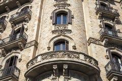 Bâtiment de modernisme en avenue de Paseo de Gracia à Barcelone image stock