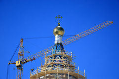 Bâtiment de nouvelle église photos libres de droits