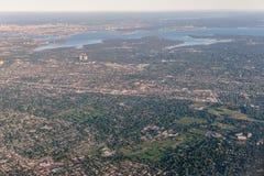 Bâtiment de paysage en Amérique Photographie stock libre de droits