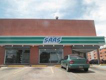 Bâtiment de pharmacie, SAAS Paseo Caroni Photos libres de droits