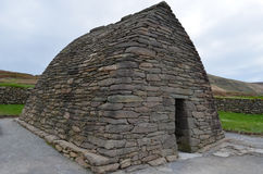Bâtiment de pierre d'éloquence de Gallarus en Irlande Photos libres de droits