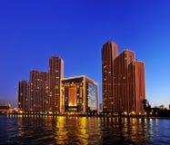Bâtiment de place financière du monde de Tianjin Image stock